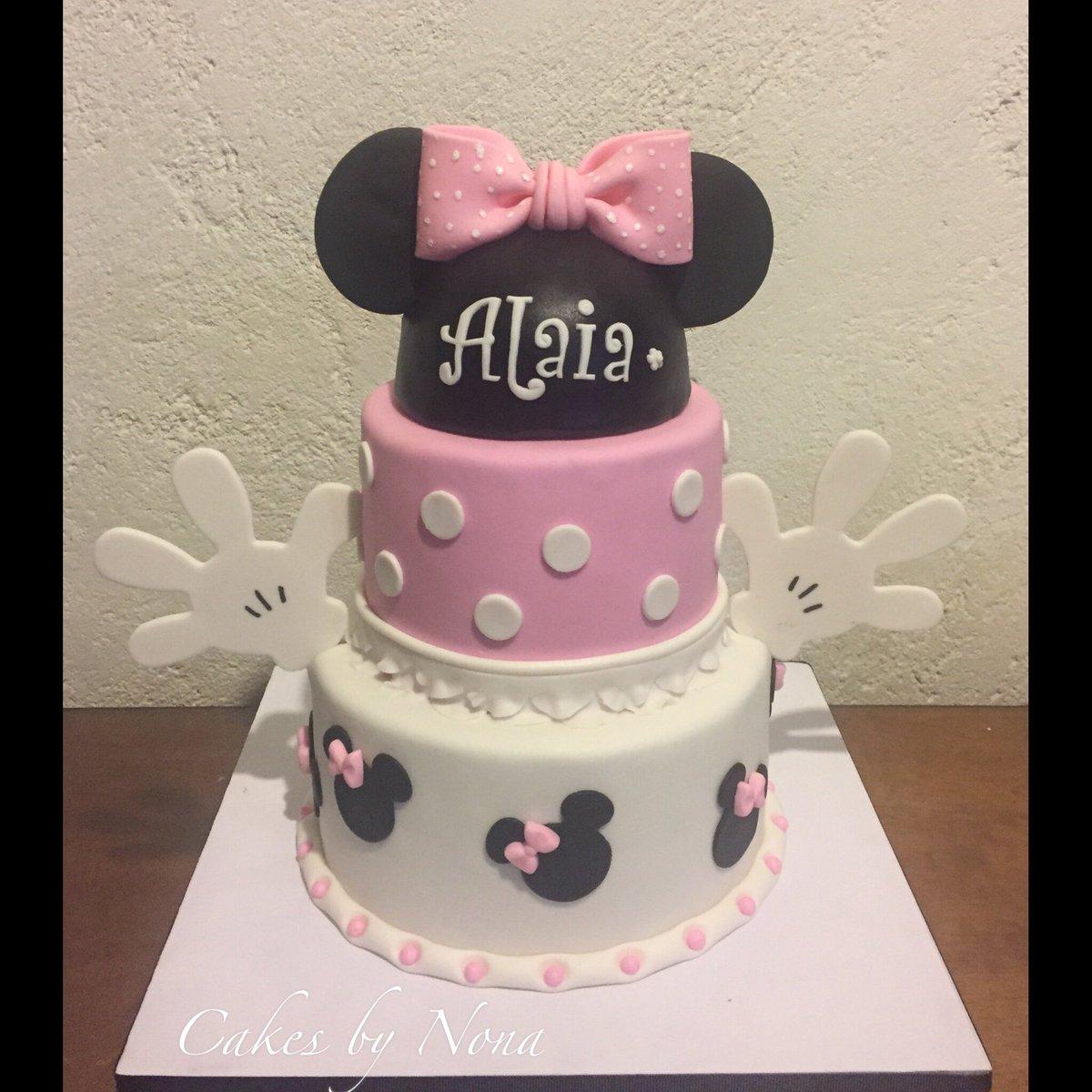 Wondrous Cakesbynona Auf Twitter Minnie Mouse First Bday Cake Primer Funny Birthday Cards Online Alyptdamsfinfo
