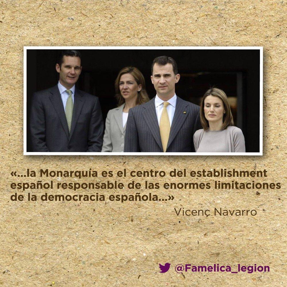 Mientras tengamos la monarquía posfranquista no habrá auténtica democracia en España. #ObjetivoUrdangarin