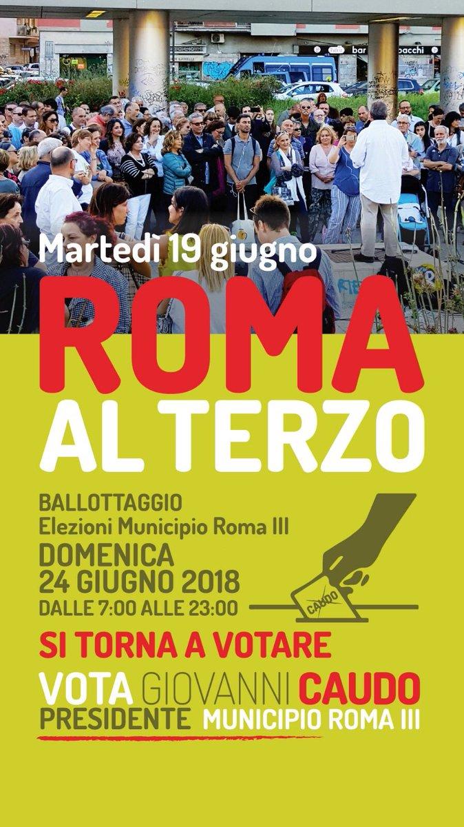 Grazie per il vostro sostegno! È importante ancora  un ultimo sforzo: Il #24giugnoVOTA GIOVANNI CAUDO Presidente#ballottaggio per le elezioni del  #IIIMunicipio  #Roma #voto #laforzadelnoi @CentroSolidale  - Ukustom