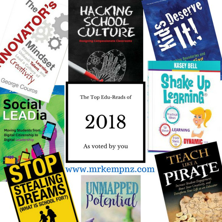 The Top 8 Professional Reads for Educators 2018 - an update - mrkempnz.com/2018/06/the-to… #summer #PLN