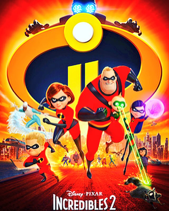 """About to see an """"incredible movie"""" with the family! #Incredibles2 #FathersDayWeekend #SaturdayNight cc @Disney"""