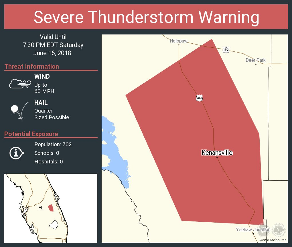 Kenansville Florida Map.Nws Melbourne On Twitter Severe Thunderstorm Warning Continues For