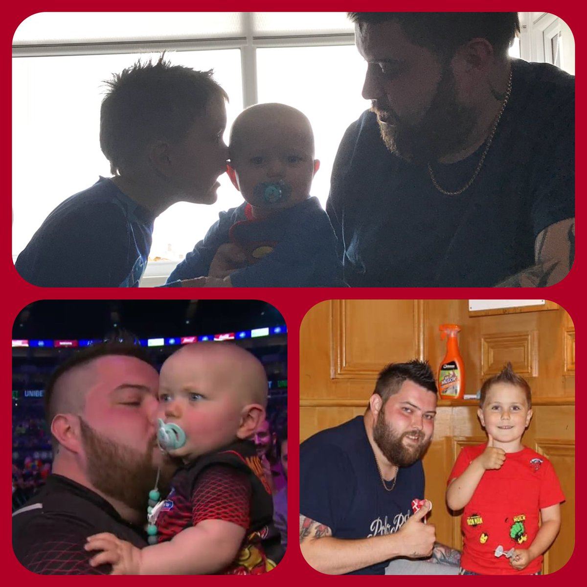 To the best daddy ever Happy Father's Day. Love you to the moon and back daddy. Jnr & Kasper 😘👨👦👦💚💙💜 @BullyBoy180