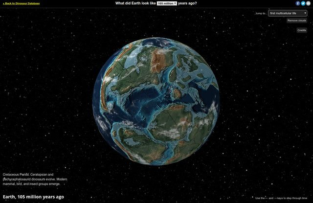 The interactive Ancient Earth globe allows you to view the continents at varies stages from today back to 750 million years ago. You can even look for your home address in the search field to see where you wouldve lived back then. Source: buff.ly/2t1YUsQ