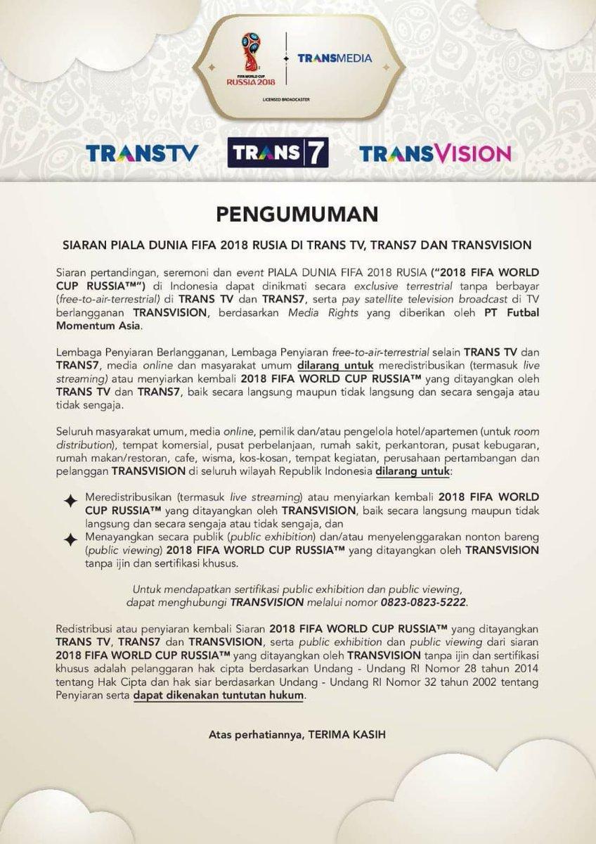 live streaming piala dunia trans tv