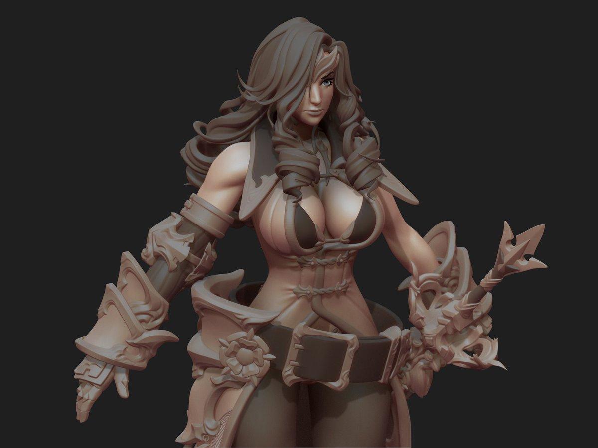 Ulkhror On Twitter Stunning Final Fantasy Ix Beatrix 3d Fan Art