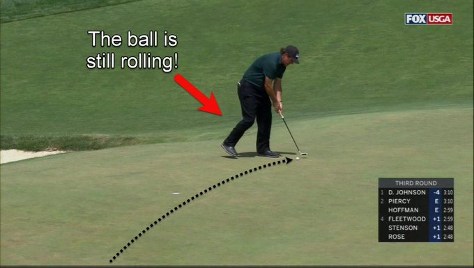 I hope Phil Mickelson wakes up today, realises what he did is completely unacceptable, and disqualifies himself. #USOpen Photo