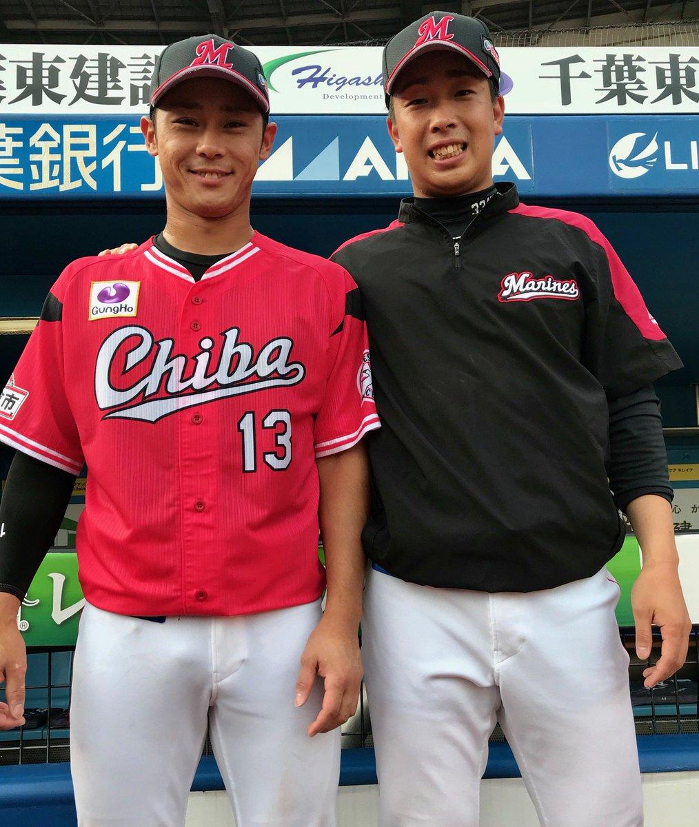 今日のヒーローはこの2人!最高の雰囲気で最終戦に臨みます!(広報) #chibalotte
