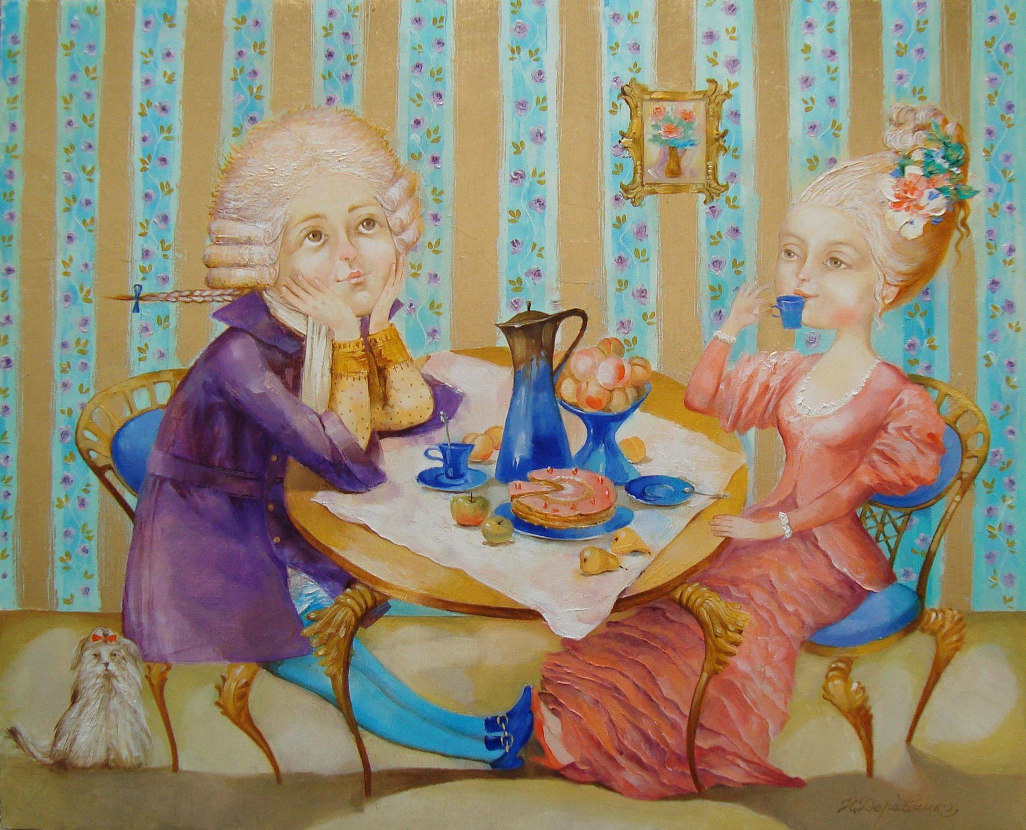 картинки подружки пьют чай сладких