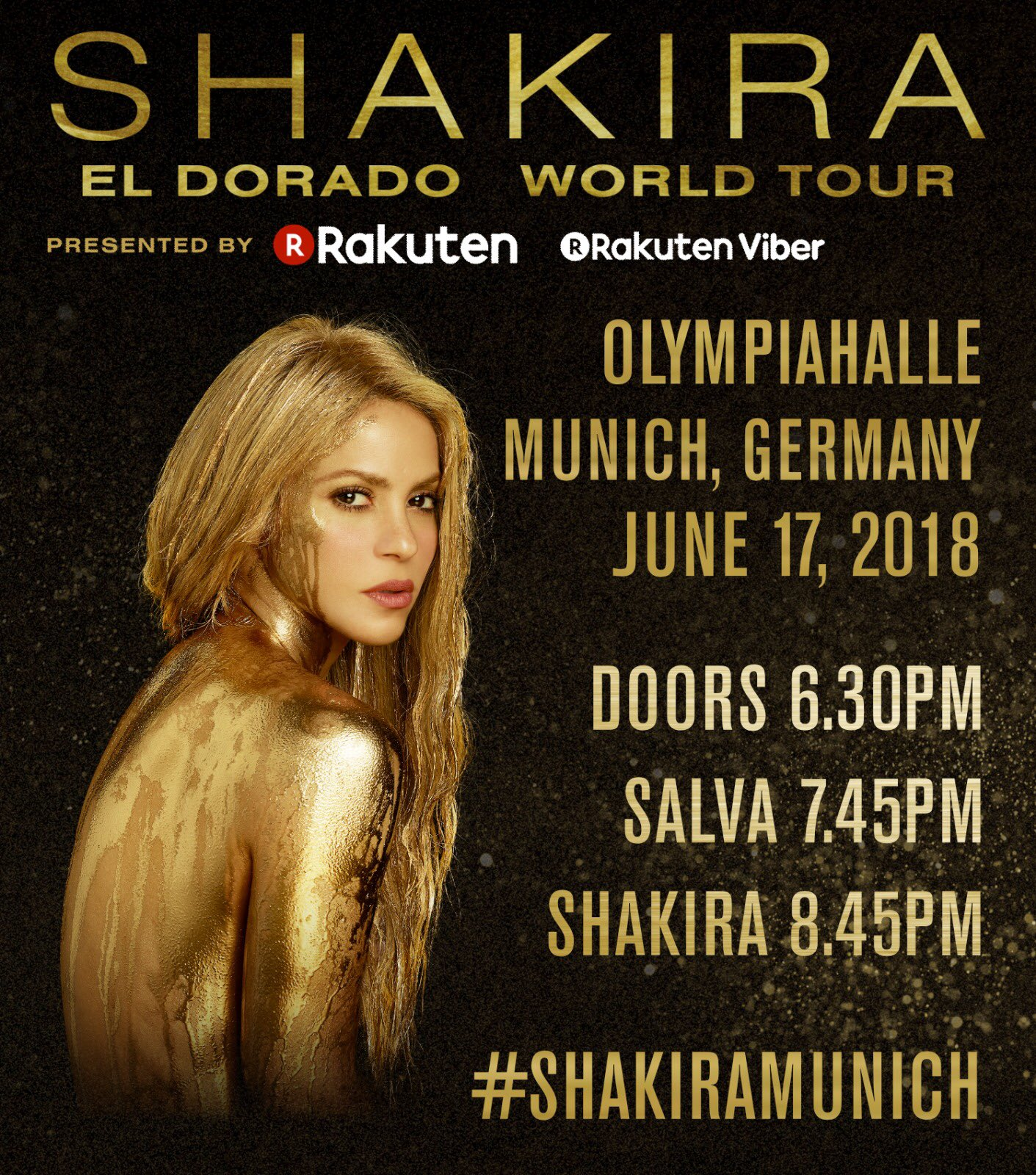 Hallo Deutschland! Here are the times for tonight's #ShakiraMunich show. ShakHQ https://t.co/avxGwr7GDw