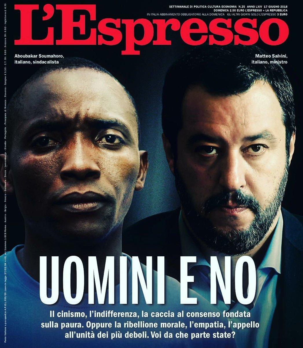 L'Espresso in edicola a 1 euro #uominieno