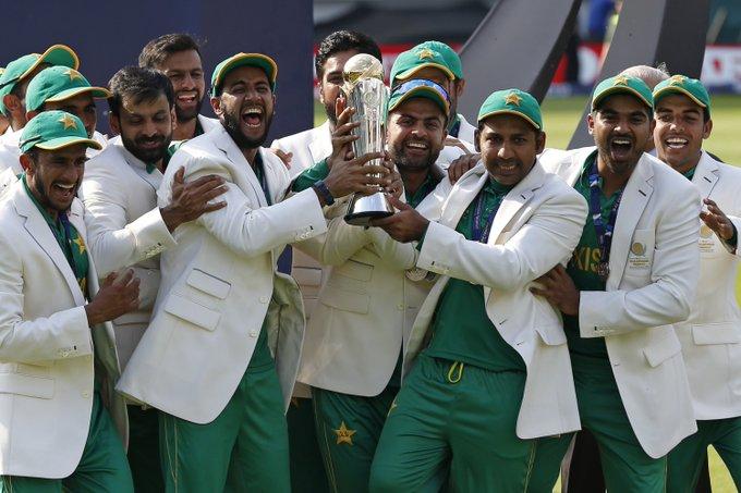 #OnThisDay a year Pakistan won #CT17! 🇵🇰🏆 Photo