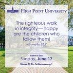 [CALENDAR] #DailyMotivation from Proverbs 20:7. #HPU365