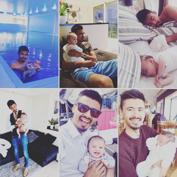 Happy first #FathersDay @MrJETrueman! Enjoy snuggles with your little man this morning ❤️👨‍👦 #SundayMorning Photo