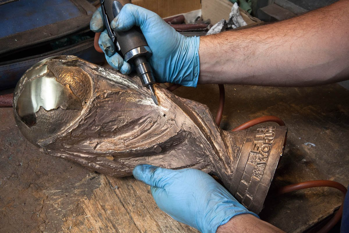 The making of the #WorldCup trophy — in pictures https://t.co/mTwX9GLoLt https://t.co/5vPbR3sTNp