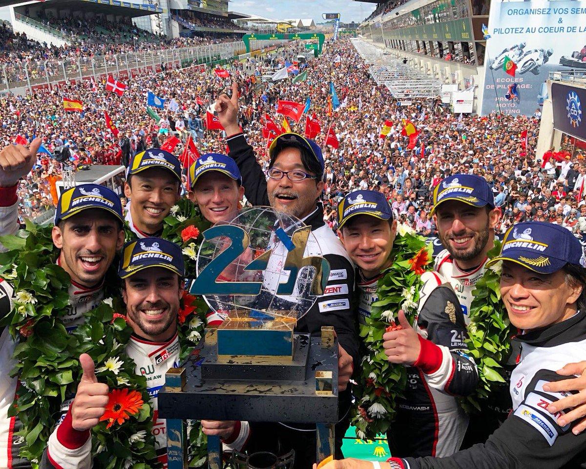Enorme la victoria de todo el equipo en la carrera más grande del mundo. Las 24h de Le Mans. Gracias 💙