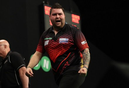 SEMI | @BullyBoy180 completes our #PC14 semi-finals line-up. Michael Smith 6-4 Dave Chisnall 📺Watch live in PDCTV-HD ▶️ Results & streaming info: pdc.tv/node/7696