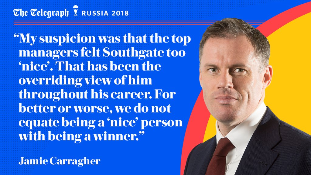 Exclusive Jamie Carragher column: From polite pundit to impressive #ENG manager, unafraid to make the tough decision. @Carra23 on how Gareth Southgate has changed our perception of him telegraph.co.uk/world-cup/2018…