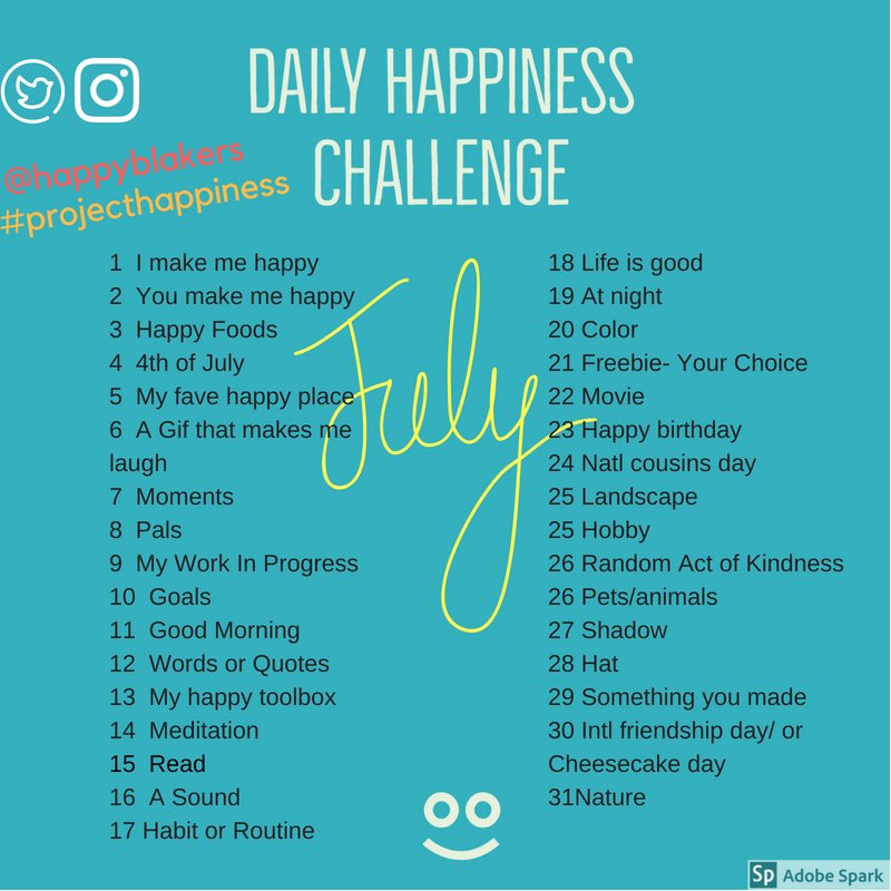 Get Ready for our first Daily Happiness Challenge for July ! Post your photos/videos to twitter &amp;/or Instagram and tag it with @happyblakers #projecthappiness #happinessgoals  #bmsed #medfieldps #wheelockians #beproudbedale #mempk1<br>http://pic.twitter.com/7w4bTYKMCe