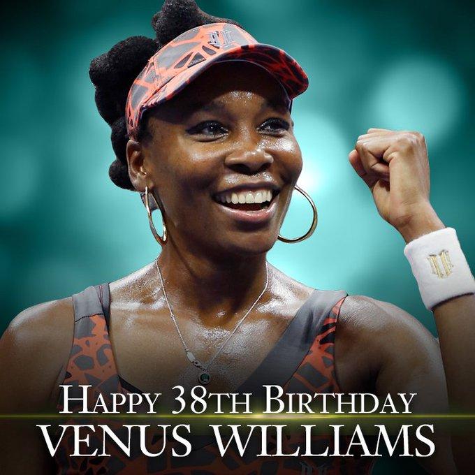Happy Birthday to tennis star Venus Williams.  She turns 38 today!