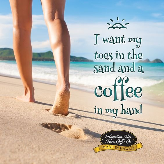 #Coffee in my hand & sand in my toes. A perfect #SundayMorning Photo