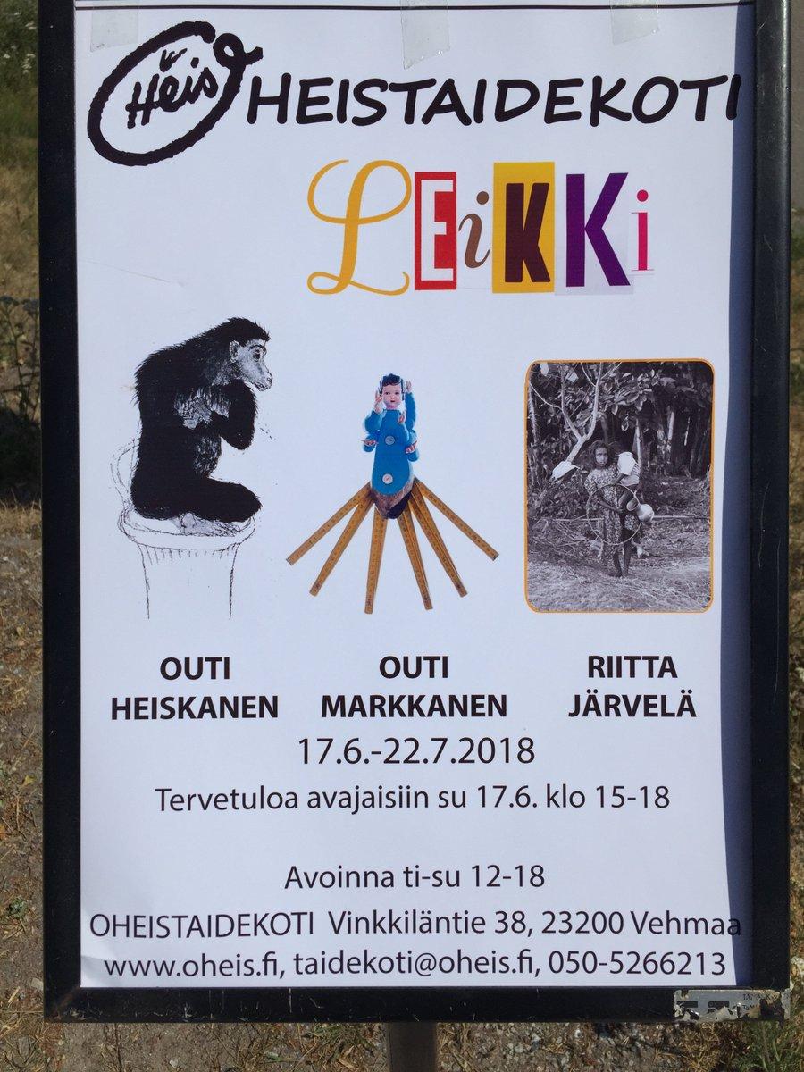 8028bfc19 Oheistaidekodissa #Liekki avajaisissa Outi Heiskanen, Outi Markkanen ja  Riitta Järvelä. Grafiikkaa, veistoksia ja valokuvia. #Oheistaidekoti 17.6.