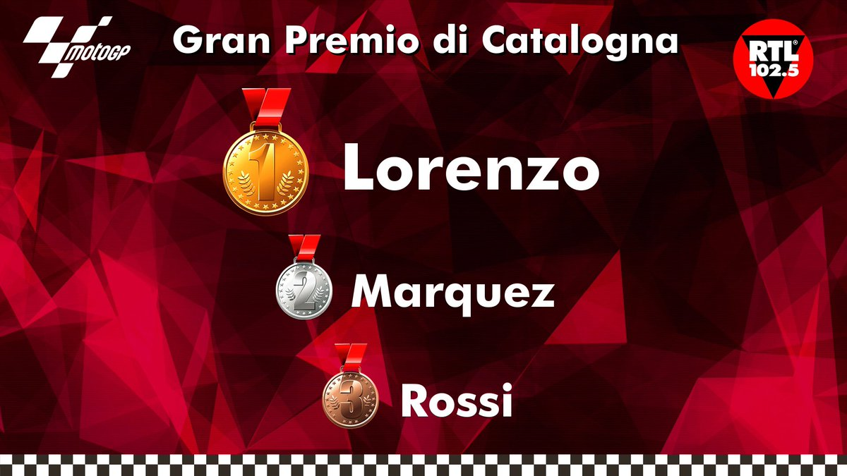 #Lorenzo trionfa in #Catalogna davanti a #Marquez, terzo Valentino #Rossi #CatalanGP #MotoGP