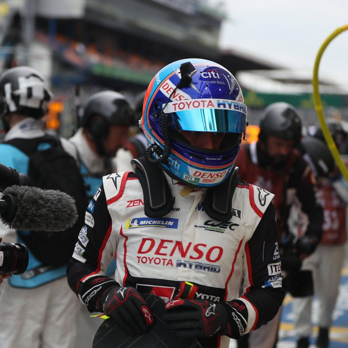 He's done it! @alo_oficial WINS the 24 Hours of Le Mans! 🏁🏆 Congratulations to him and his Toyota teammates. 👏 #LeMans24 Photo