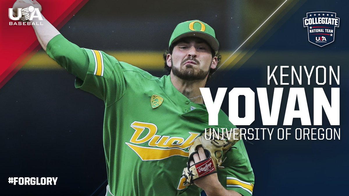 Playing #ForGlory🇺🇸 for the second summer in a row 👏🏼  Welcome back, @kenyonyovan21! @OregonBaseball
