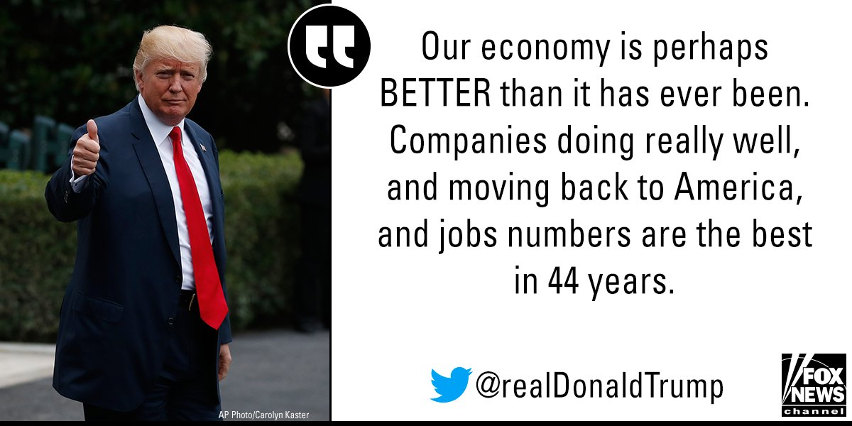 Moments ago, President @realDonaldTrump tweeted about the economy