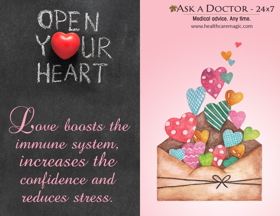 Largest Health Q&A site.  Ask a Doctor Online at      https://t.co/TwirbOpRi1 #open #yourheart #love #boast #selfconfidence #immunesystem #reduce#stress#AskADoctor#DailyHealthTips#HealthcareMagic