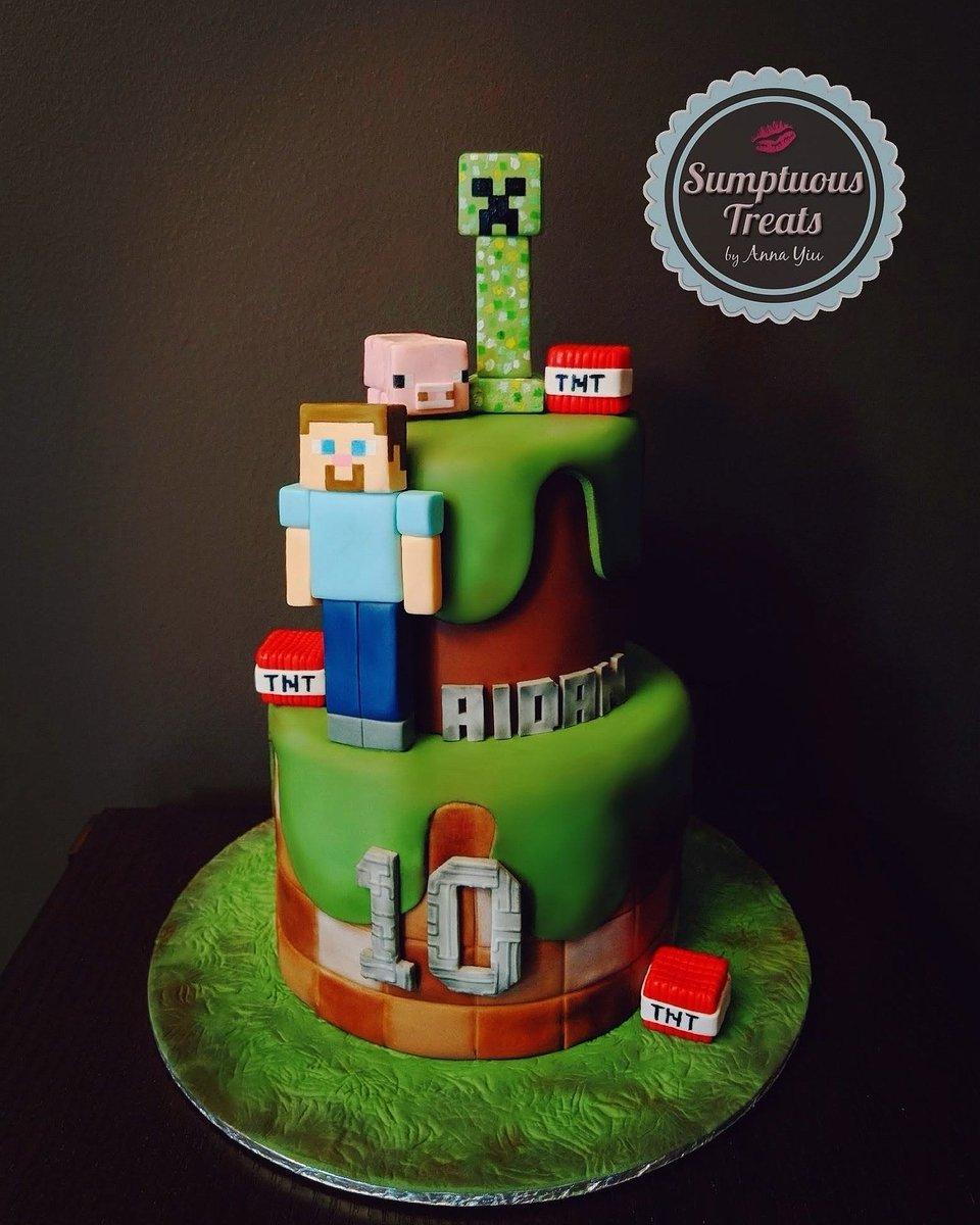 Swell Sumptuous Treats On Twitter Minecraft Birthday Cake Funny Birthday Cards Online Inifofree Goldxyz