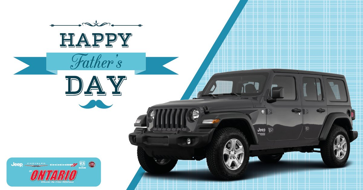 Happy #FathersDay From All Of Us Here At #Jeep #Chrysler #Dodge #Ram #FIAT  Of Ontario!pic.twitter.com/iZpdYS3cTj