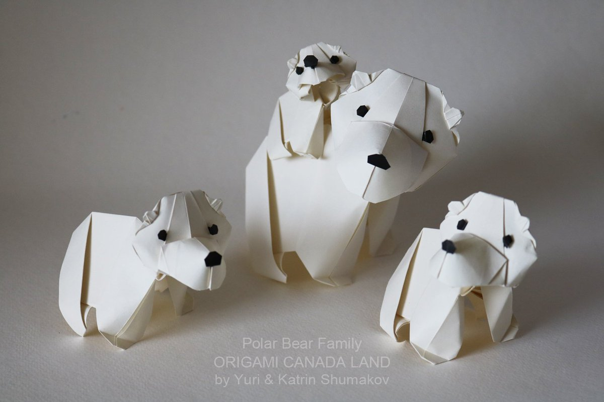 Origami Polar Bear stock image. Image of range, north - 70586399 | 800x1200