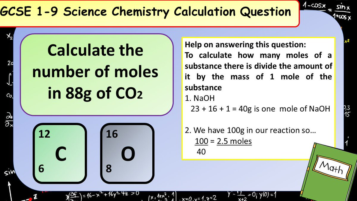 Dont forget about the extra maths content in the new GCSE Science spec! Have a go at this chemistry calculation practice question. #ukedchat #asechat #aqachemistry #aqascience #sciencerevision #revision