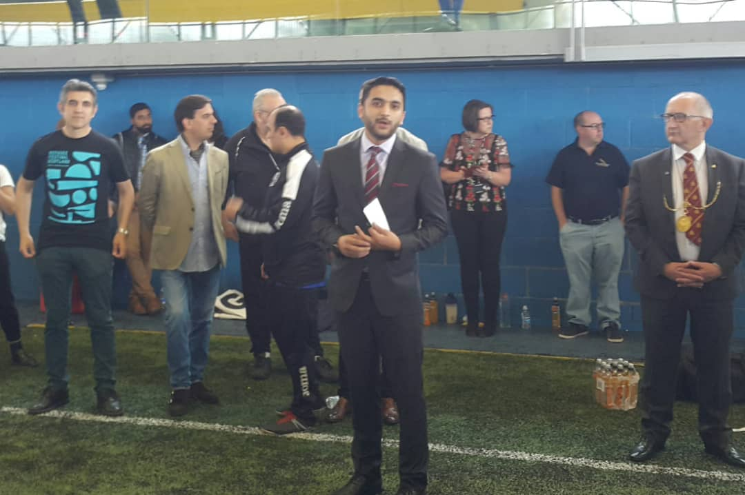 As part of the Embassy outreach plan to #Afghan communities in #Scotland and to mark the upcoming #WorldRefugeeDay, diplomat @NaveedNoormal and embassy representative @SHashmatSarvari attended the annual Eid football tournament of Glasgow Afghan United @GlasgowAU.