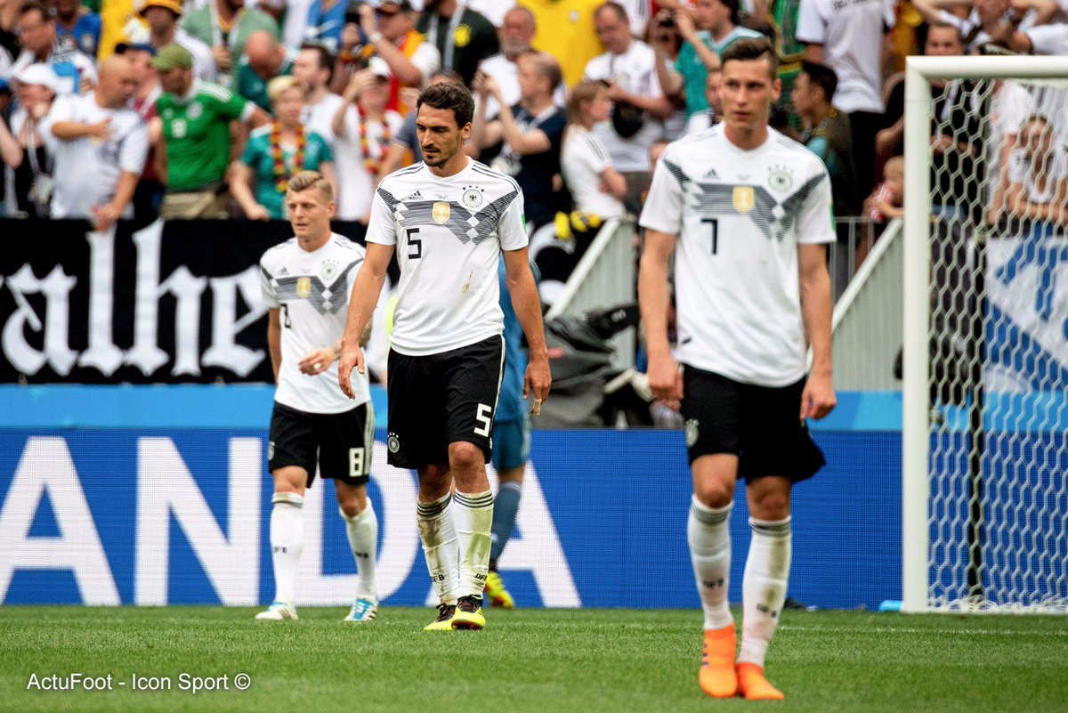 Si l'Allemagne termine deuxième de son groupe et le Brésil premier, il y aura un Brésil-Allemagne en huitièmes de finale ! #CM2018