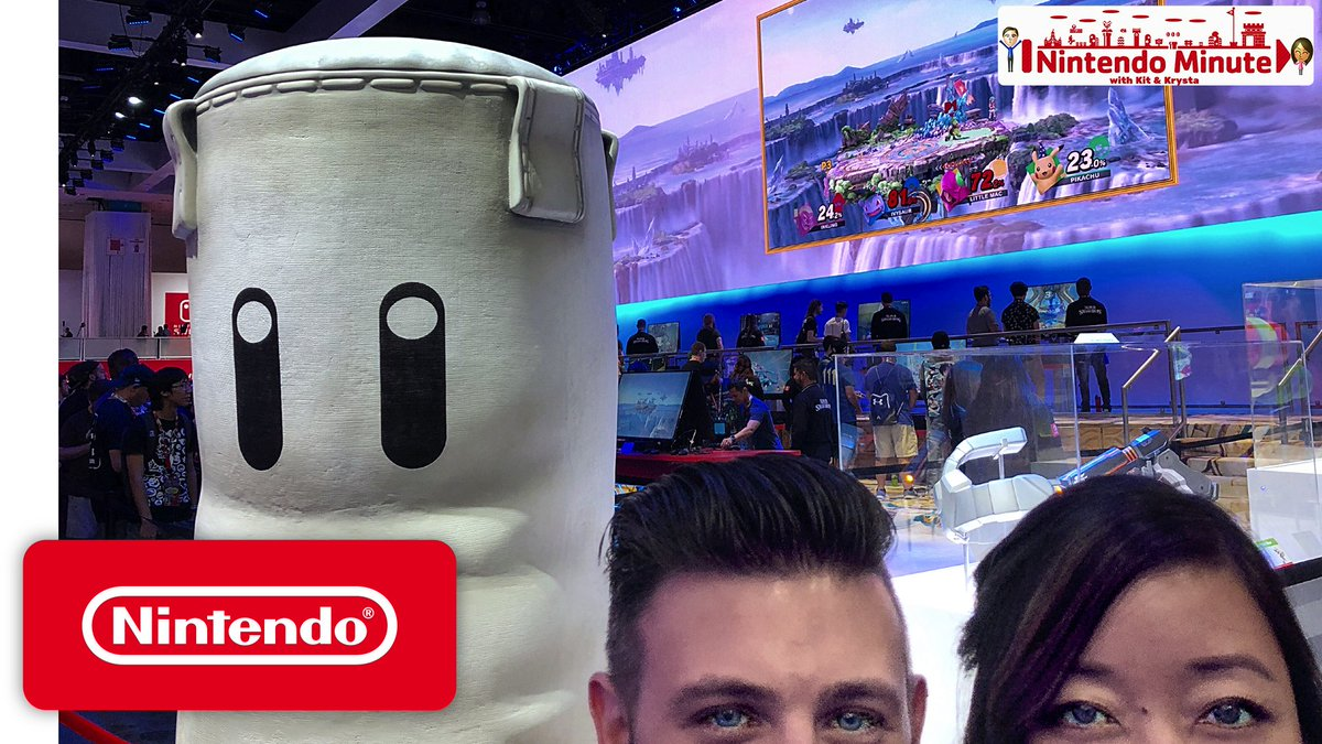 #NintendoMinute is back with a special behind-the-scenes look at #E32018! Watch the full episode and find out how to enter for your chance to win some Nintendo E3 swag here: youtu.be/yRbtTujzPVk