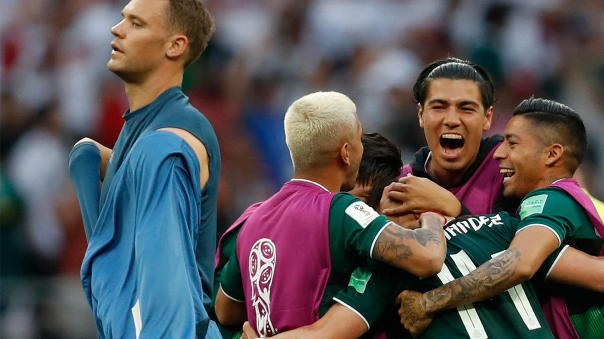 THIS JUST IN: Mexico beats defending champion Germany 1-0 at World Cup #GERMEX  https://t.co/gJ3FAjc1rh