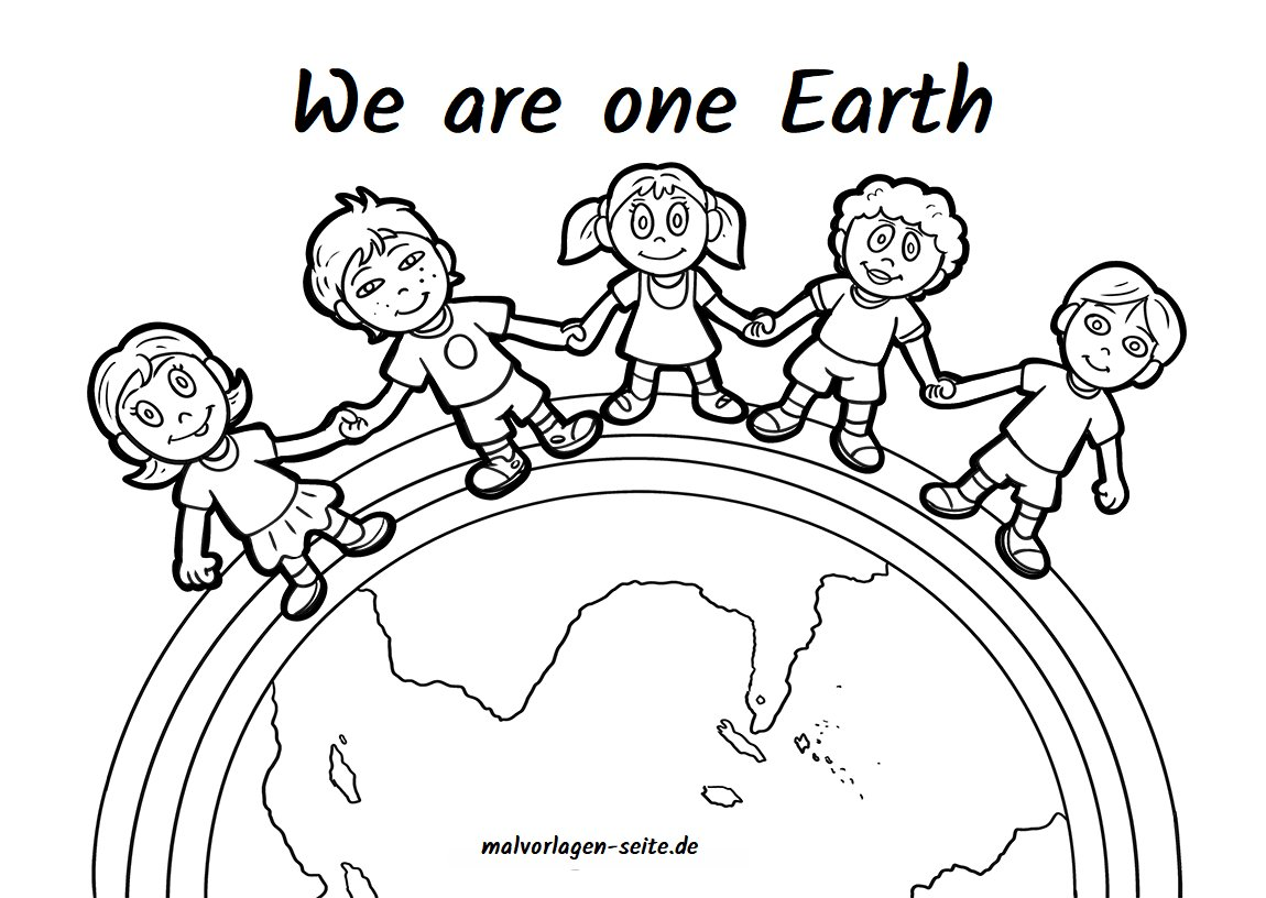 "S.B. on Twitter: ""We are one world - Free coloring pages for all"