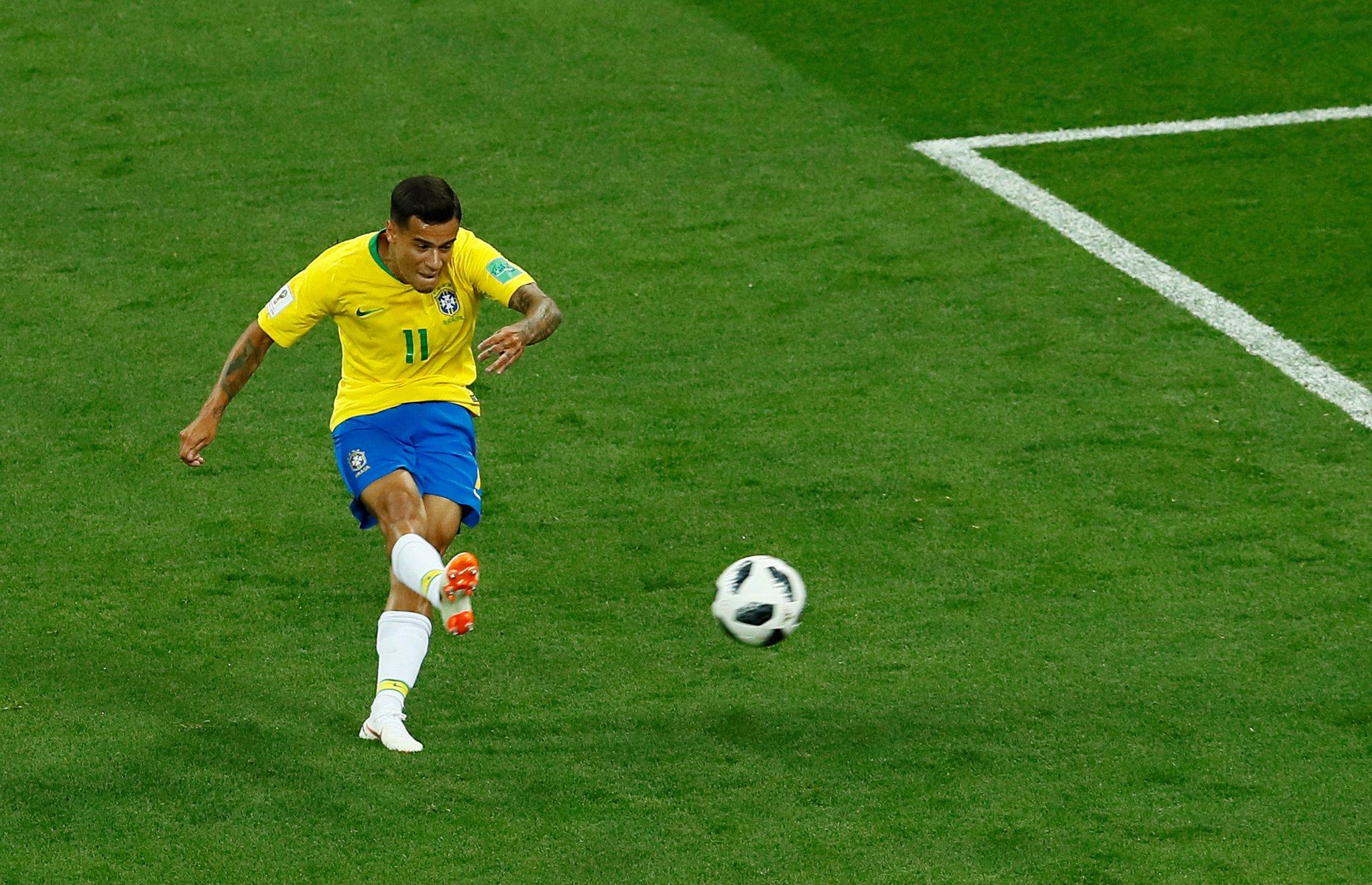 هدف البرازيل الأول في شباك سويسرا