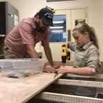 Happy Father's Day Marco! He's spending it during #fieldwork teaching his daughter a bit of carpentry as they build a plant drier. #FathersDayWeekend #skillbuilding