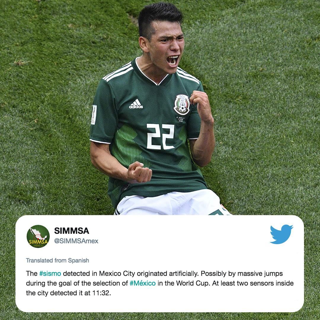 Mexico celebrated so much after their goal, they recorded seismic activity 😳 (via @SIMMSAmex)