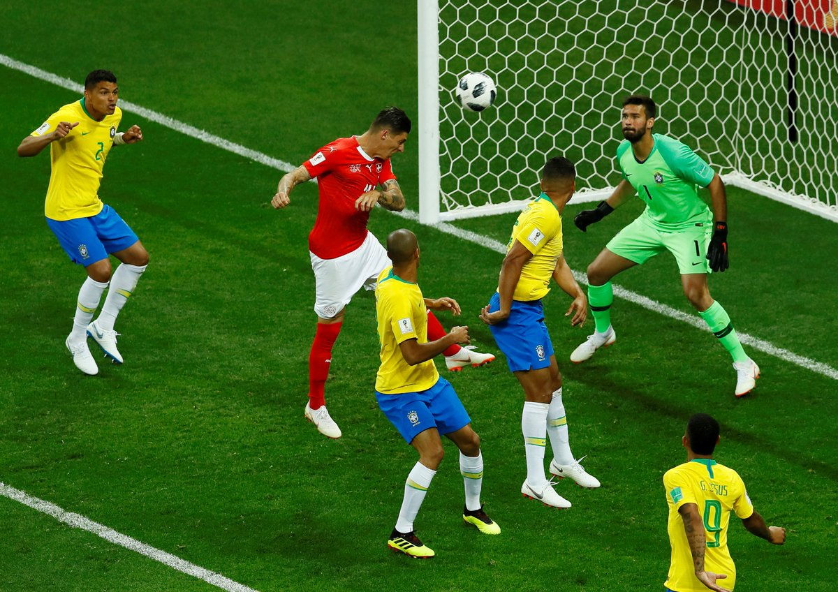 Brazil vs Switzerland 1-1 Highlights & Goals
