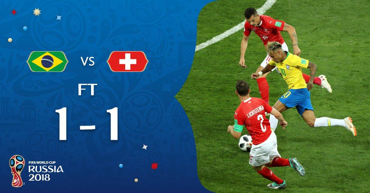 Braziliya ham kichik sensatsiya bilan turnirni boshladi