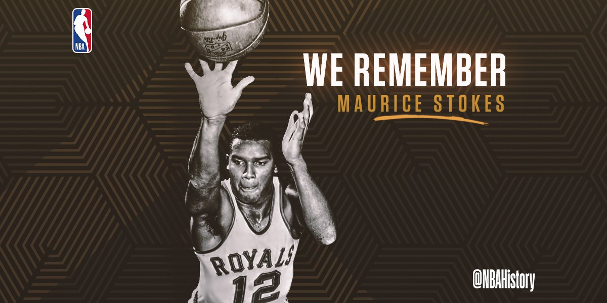 Today WE REMEMBER 3x All-Star and Hall of Famer, Maurice Stokes.