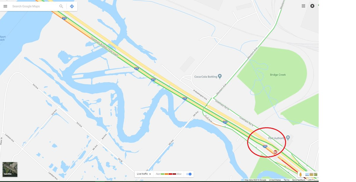 Some1 to tell @googlemaps that the Goethals Bridge @PANYNJ_GB @PANYNJ Jersey bound span is open a few weeks already.<br>http://pic.twitter.com/ThlpASEoax