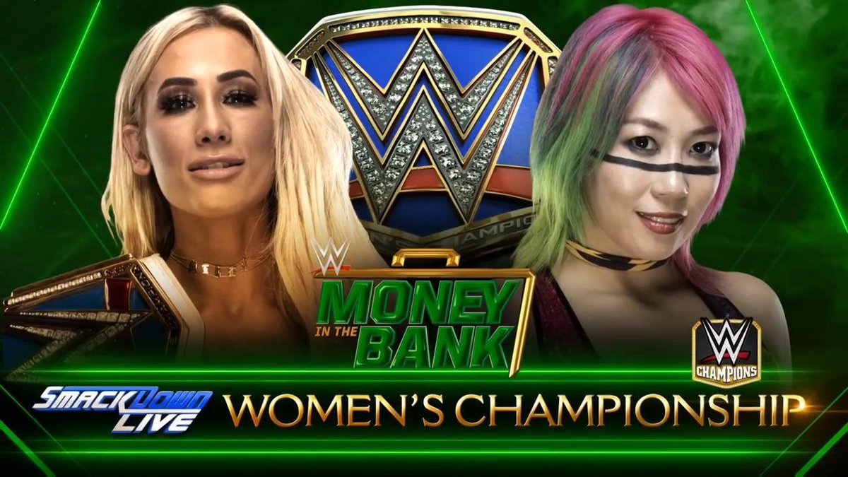 UP NEXT: The #EmpressOfTomorrow @WWEAsuka looks to bankrupt #SDLive #WomensChampion @CarmellaWWE at @WWE #MITB!
