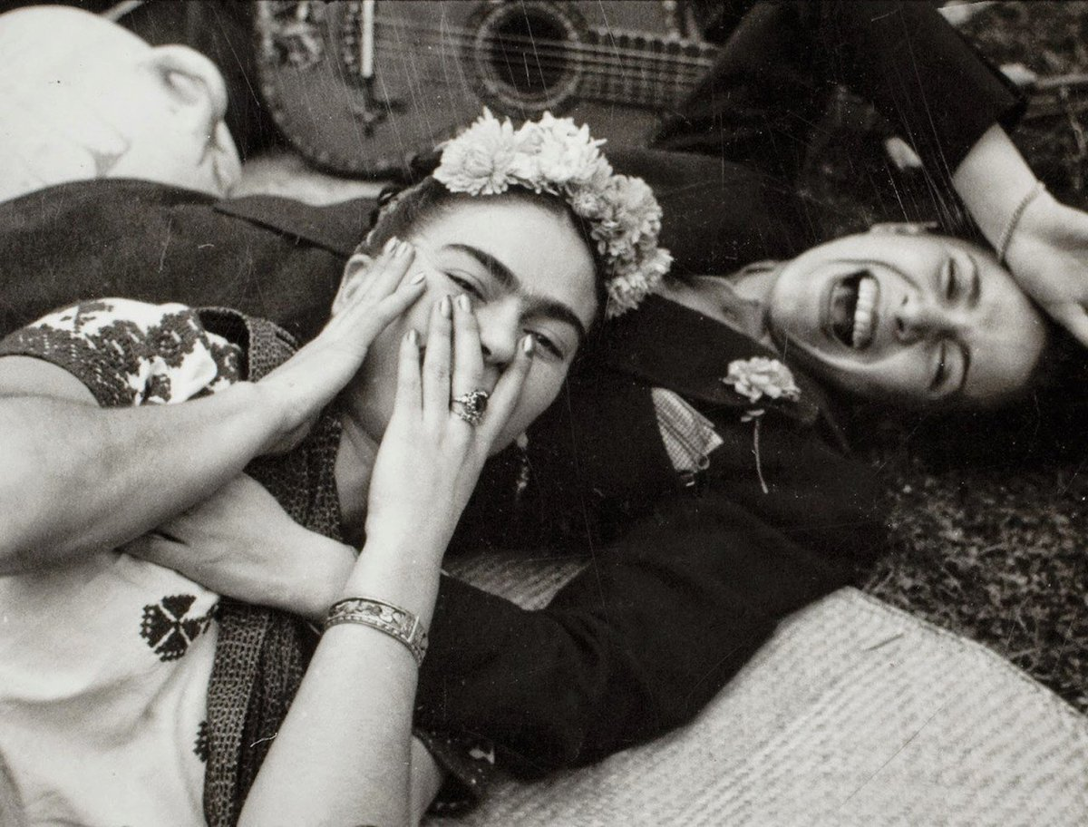 The only people for me are the mad ones, the ones who are mad to live, mad to talk, mad to be saved, desirous of everything at the same time, the ones who never yawn or say a commonplace thing—but burn, burn, burn. – Jack Kerouac Tina Modotti, Frida Kahlo &amp; Chavela Vargas, 1950 <br>http://pic.twitter.com/35E0vlTJG3