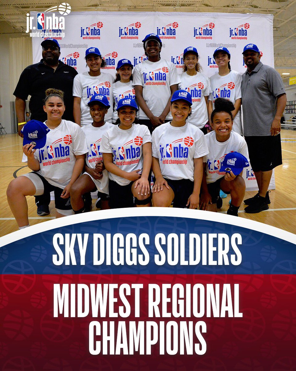 Representing the girls Midwest Regional... Sky Digg Soldiers! #JrNBAWorldChampionship 🏆